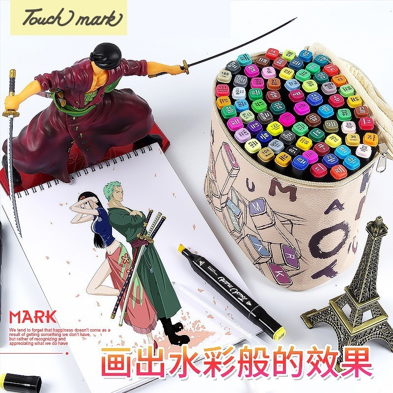 Купить с кэшбэком touchmark 30/40/60/80 Color Dual Head Art Marker Set Alcohol Sketch Markers Pen for Artist Drawing Manga Design Art Supplier