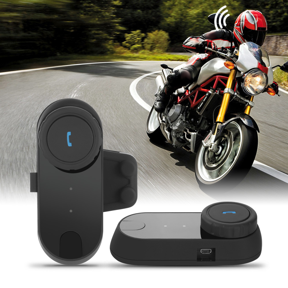 TCOM - 02 Motorcycle Helmet Bluetooth Headset Motor Wireless Communication Kit Hands-fre ...