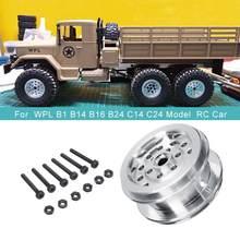 Atualize a peça de reposição do quadro da roda do metal para wpl b1 b14 b16 b24 c14 c24 modelo rc carro prata acessórios substituição