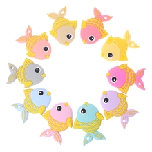 Baby Teether Lovely Fish Diy Teething Necklace Accessories Food Grade Silicone