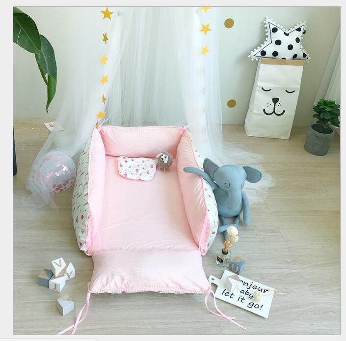 Cotton Newborn Bedding Sets Folded Pattern Baby Bumper Bed Aroundre Movable Wash Cot Sheet Crib Organizer Quilt Baby BeddingCotton Newborn Bedding Sets Folded Pattern Baby Bumper Bed Aroundre Movable Wash Cot Sheet Crib Organizer Quilt Baby Bedding