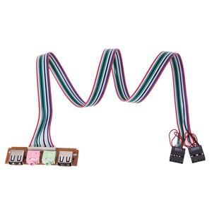 Image 2 - 2 USB 2.0 PC Máy Tính Bảng Điều Khiển Phía Trước USB Âm Thanh Jack Cắm Cổng Máy Tính USB Nối Dài Dây Cho Micro Tai Nghe Chụp Tai cáp Dây