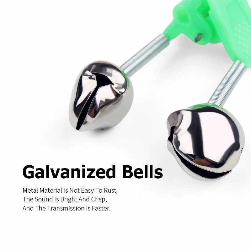 Linnhue 4 Pcs Zee Vissen Bell Rvs Bells Alarm Hengel Klem Groene Abs Staaf Beet Clip Zee Vissen goedkope Accessoire