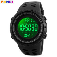 SKMEI Men Sports Watches New Fashion Digital Chrono Countdown Men's Multifunction Casual LED Wrist watches Relogio Masculino(China)