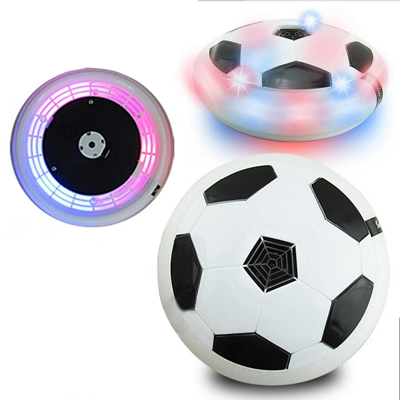Funny LED Light Flashing Ball Toys Air Power Soccer Balls Disc Gliding Multi-surface Hovering Football Game Toy Kid Chidren Gift