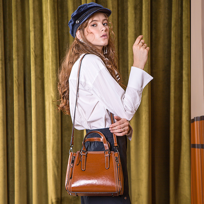 Handbag Female 2019 Spring And Summer New Women 39 s Bag Fashion Personality Messenger Bag Atmosphere Retro Leather Shoulder Bag in Shoulder Bags from Luggage amp Bags