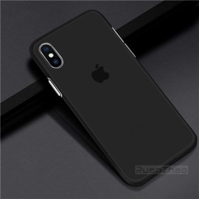 Luxury 0.3mm Ultra Thin Matte Transparent PC Phone case For iPhone 7 6 6S plus 8 Case Cover For iphone X XS XR max Cases Bag