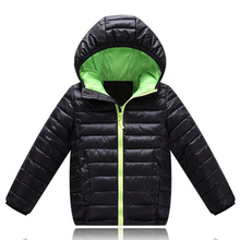 Baby Boys Jacket 2020 Winter Autumn Jacket For Boys Hooded Down Jacket Kids Warm Outerwear Coat For Baby Boy Clothes 2 to 10yrs cheap KEAIYOUHUO Fashion Polyester COTTON Full Solid Children REGULAR Fits true to size take your normal size Worsted Jackets