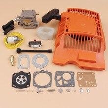 Recoil Starter Carburetor Carb Repair Kit For Husqvarna 61 268 272 XP 272XP Chainsaw