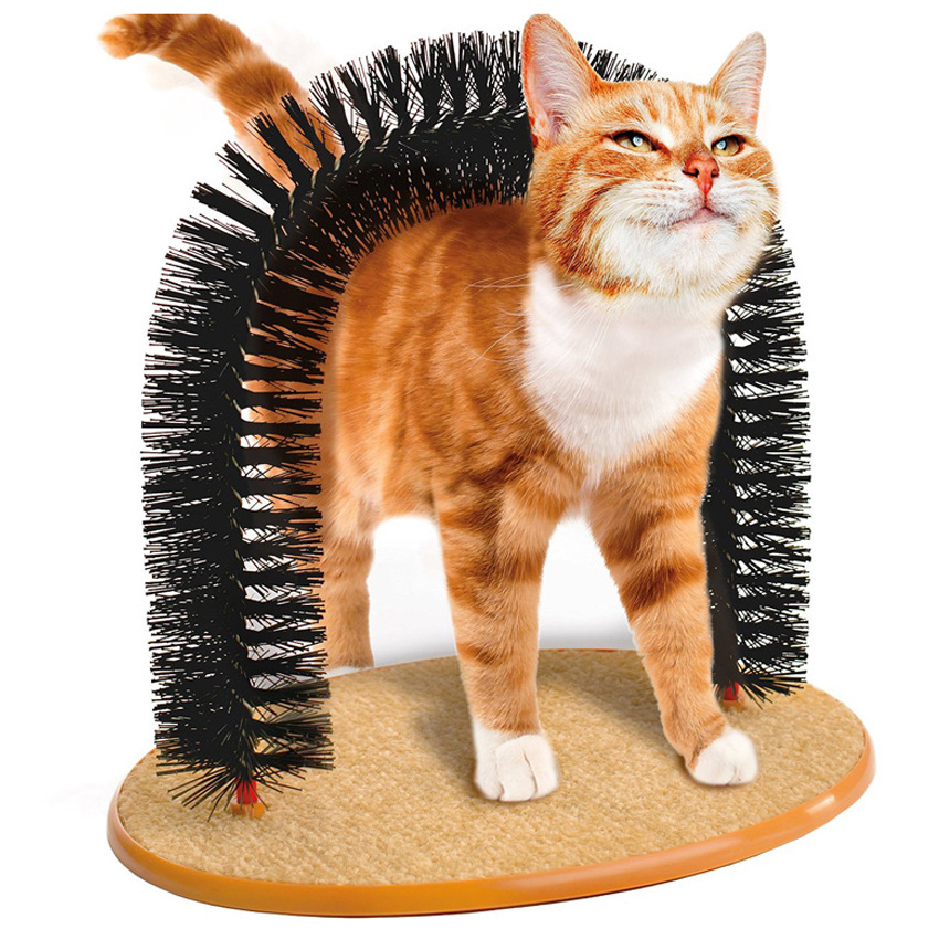 TOP Cat As Seen On TV Kitten Scratch Plastic Brushes Grooming Supplies Cat Toys Self Groomer 2016 New Arrival Purrfect Arch