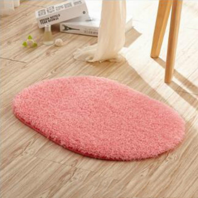 Oval Carpet Living Room Bedroom Tea Table Rugs Anit slip Home ...
