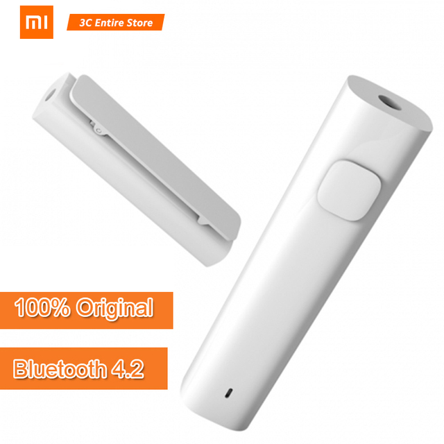 Xiaomi Bluetooth Audio Receiver Wireless Adapter Professional Amplifier Chip Bluetooth 4.2 Built-in Battery Dual-link Connection
