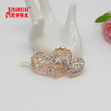2017 High Quality Crystal Hollow Flower Heart-shaped Strip Hairpin Headwear Accessories Jewelry For Woman Girls Wedding