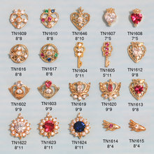10pcs 3D metal Zircon Nail art jewelry Sailor Moon series nails decorations top-level zircon rhinestone Manicure diamond Charms