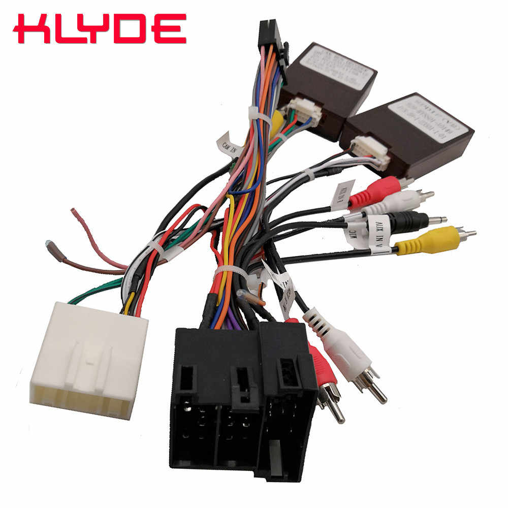 klyde car stereo radio wire power harness adapter with canbus decoder for kia sorento sportage  [ 1000 x 1000 Pixel ]