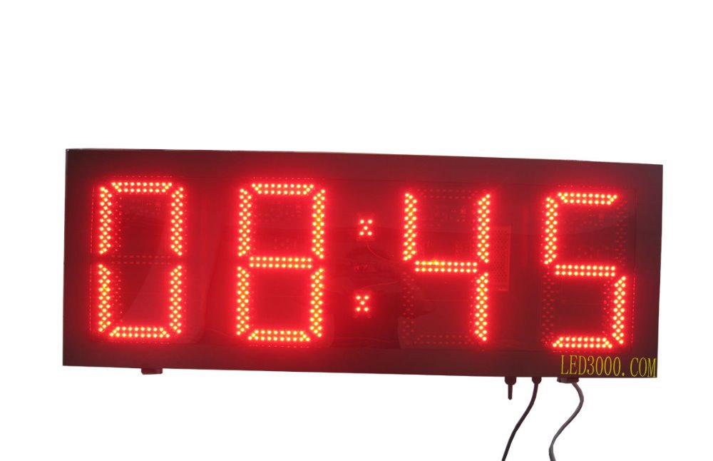 velká velikost venkovní vodotěsná výška 12 palců výška 4digits červená barva hodiny a minuty led hodiny (HOT4-12R)