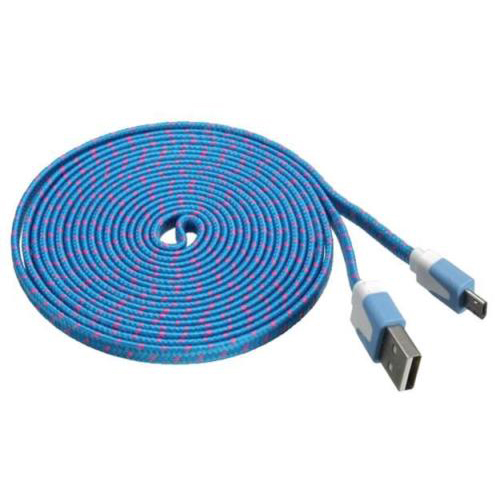 Top Deals 3M/10Ft Nylon net weave Micro USB Data cable Rose red/Pink/Red/Yellow/Blue/Green/Purple