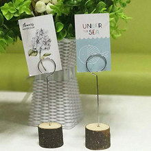 Seat Board Table Number Card Wedding Photo Clip 10pcs Wooden Beautiful Creative Restaurant