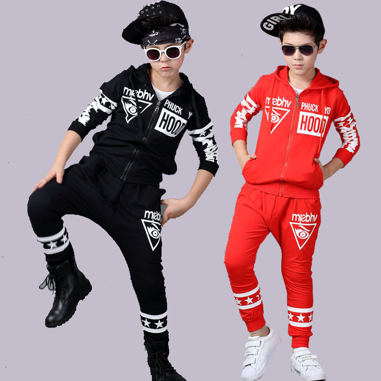 Children Hip-Hop Clothing Set 2017 Fall Winter Girls Long-Sleeve Street Dancing Clothes Kids Casual Sport Twinset Tracksuit baby set trendy bat kids clothing twinset long sleeve set hoodie