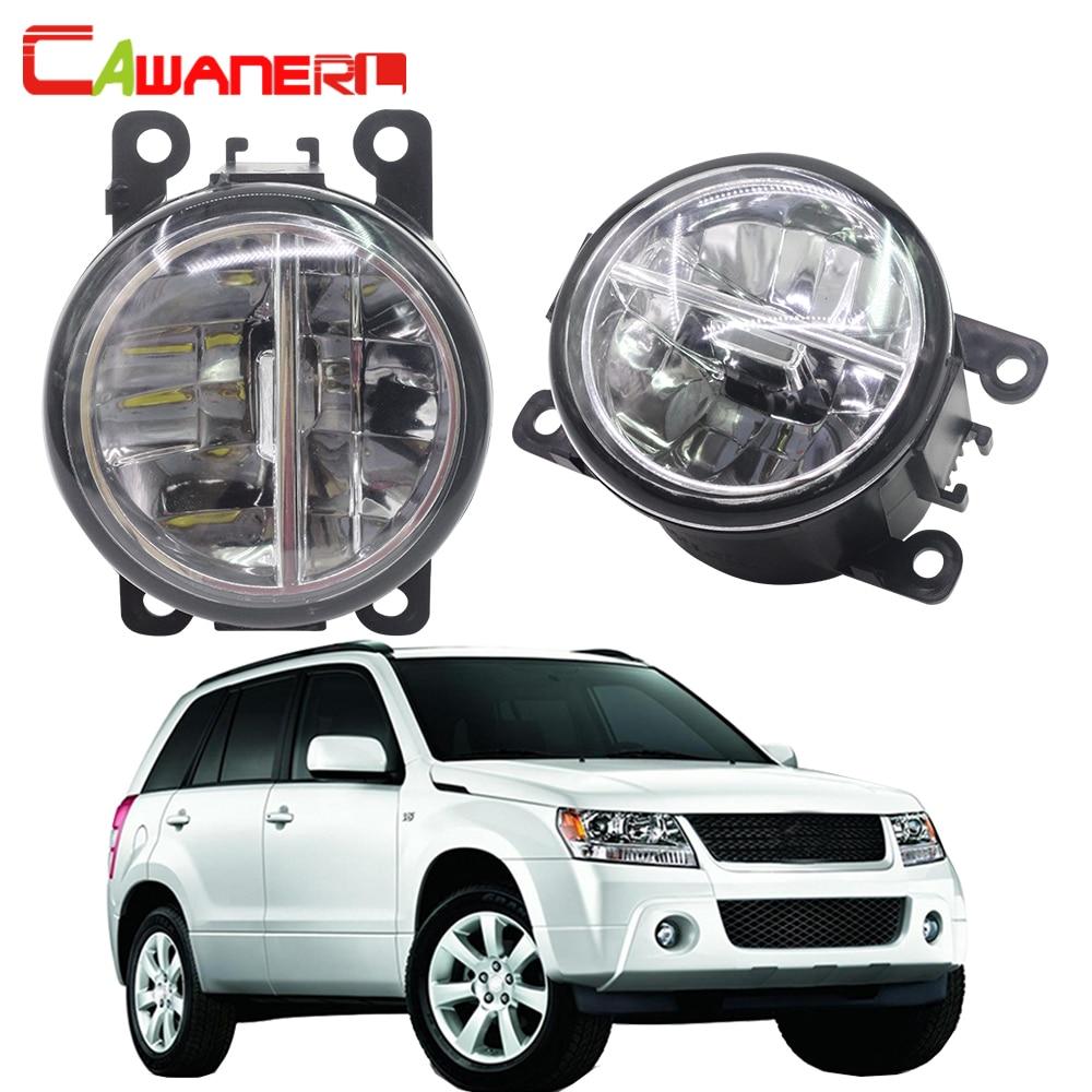 цена на Cawanerl For Suzuki Grand Vitara 2 / II Closed Off-Road Vehicle JT 2005-2015 Car LED Bulb Fog Light DRL Daytime Running Lamp 12V