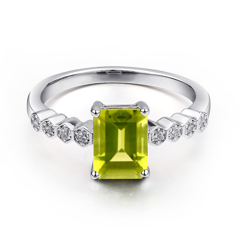 diamond wedding rings eternity alternating peridot with genuine product band