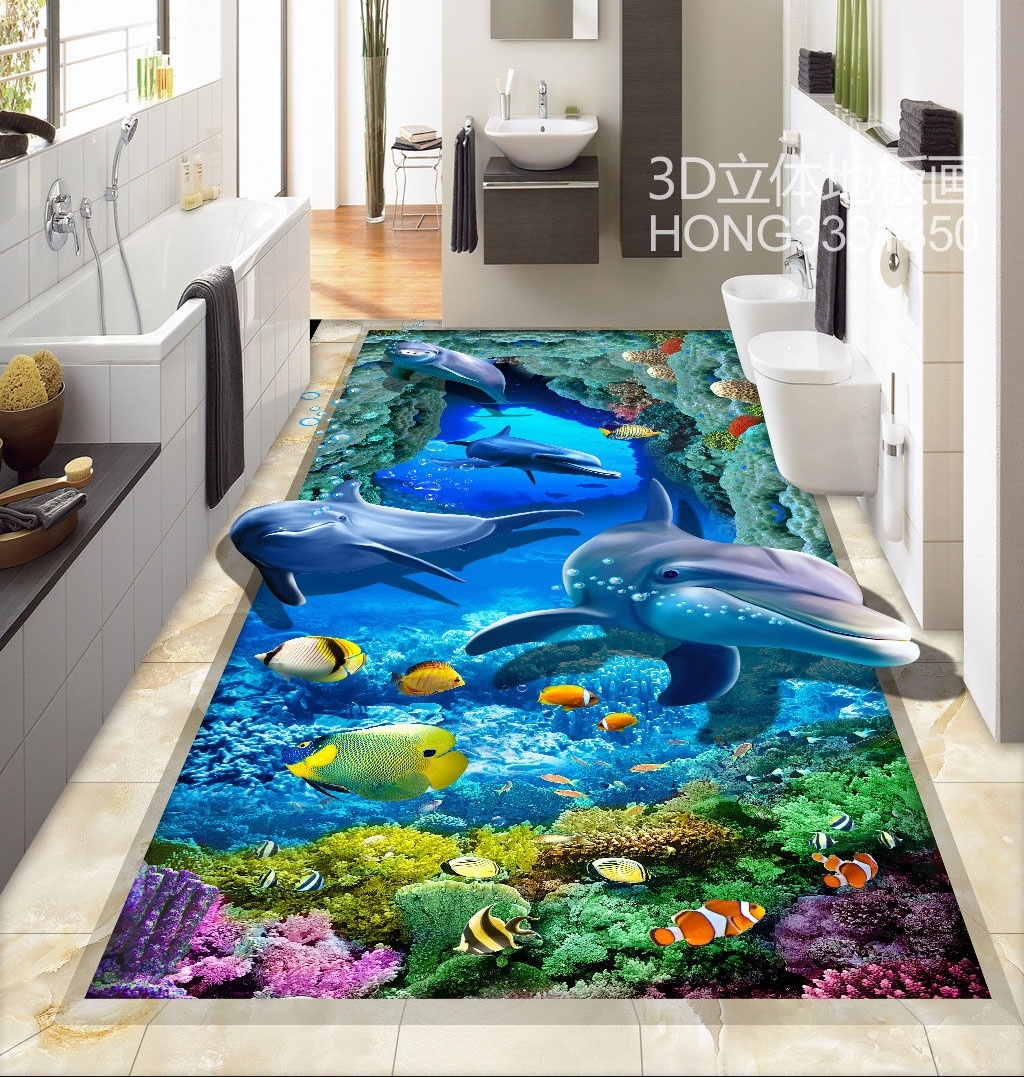 Large 3D Wall Stickers HD 3D Stereoscopic Sea World