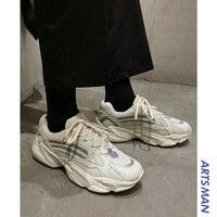 Мужская винтажная обувь в стиле «унисекс», «Джокер», «Канье», Модная легкая дышащая мужская повседневная обувь, мужские кроссовки, zapatos hombre #...