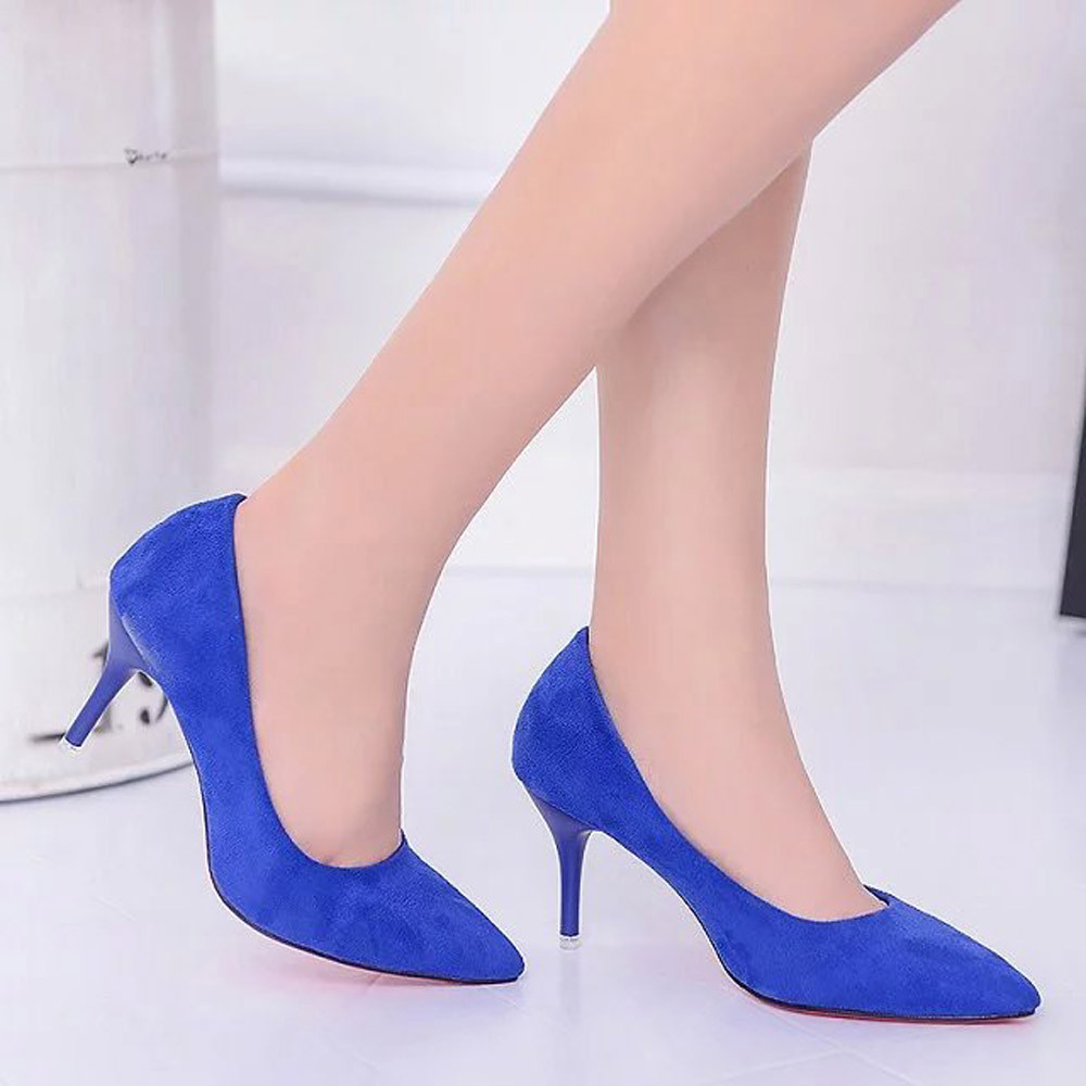 Women Nude Shallow Mouth Fashion Elegant Ladies Office Work High Heels Shoes