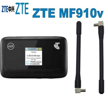 Unlock 4G Modem 150Mbps ZTE MF910v 4G WiFi Router With Sim Card Slot plus 4g antenna
