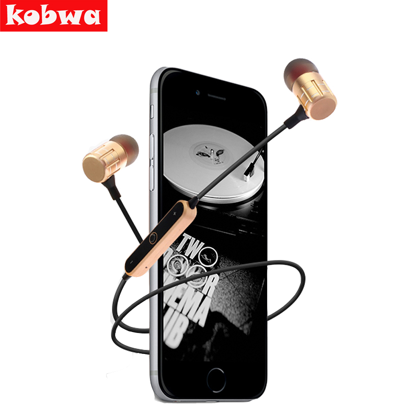 Kobwa Wireless Bluetooth 4.2 Stereo Mega bass Earphone Portable Sport Running BT-KDK21 Headphone Music Headset With Micro phone rock y10 stereo headphone earphone microphone stereo bass wired headset for music computer game with mic