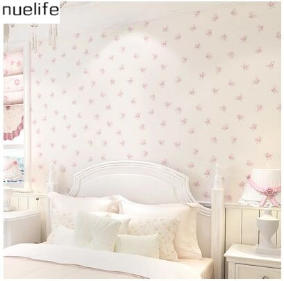 0.53x10m Korean Girl Pink Romantic Floral Pattern Bedroom Wallpaper ...