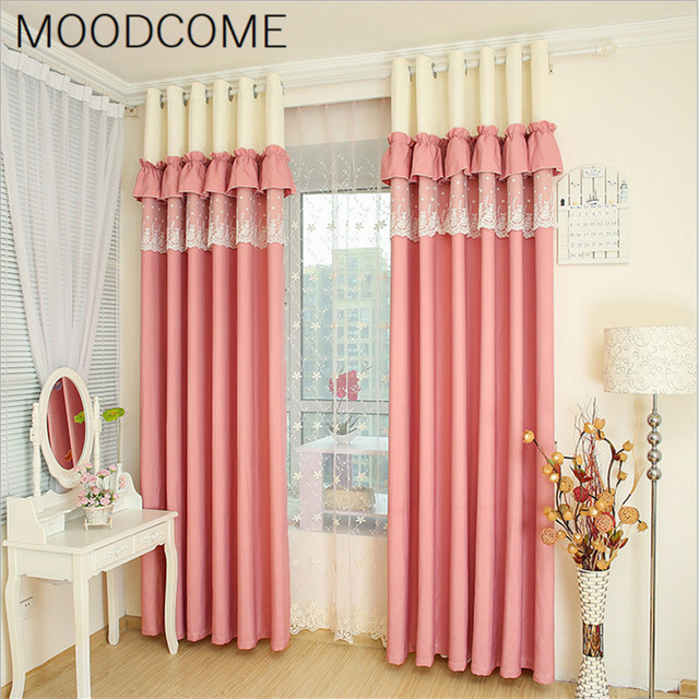 Pastoral Pink Curtains For Living Room Bedroom Princess Bedroom Warm ...