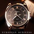 Rosa de Ouro Relógio De Pulso Dos Homens 2016 Top Famosa Marca De Luxo Masculino Relógio de Quartzo Relógio de Ouro Relógio de Pulso de Quartzo-relógio Relogio Masculino