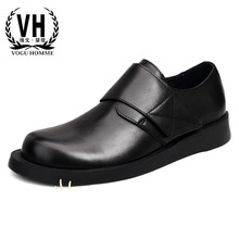 Mens Shoes British casual real leather shoes business shoes men all-match cowhide breathable fashion boots men Leisure shoes цены онлайн
