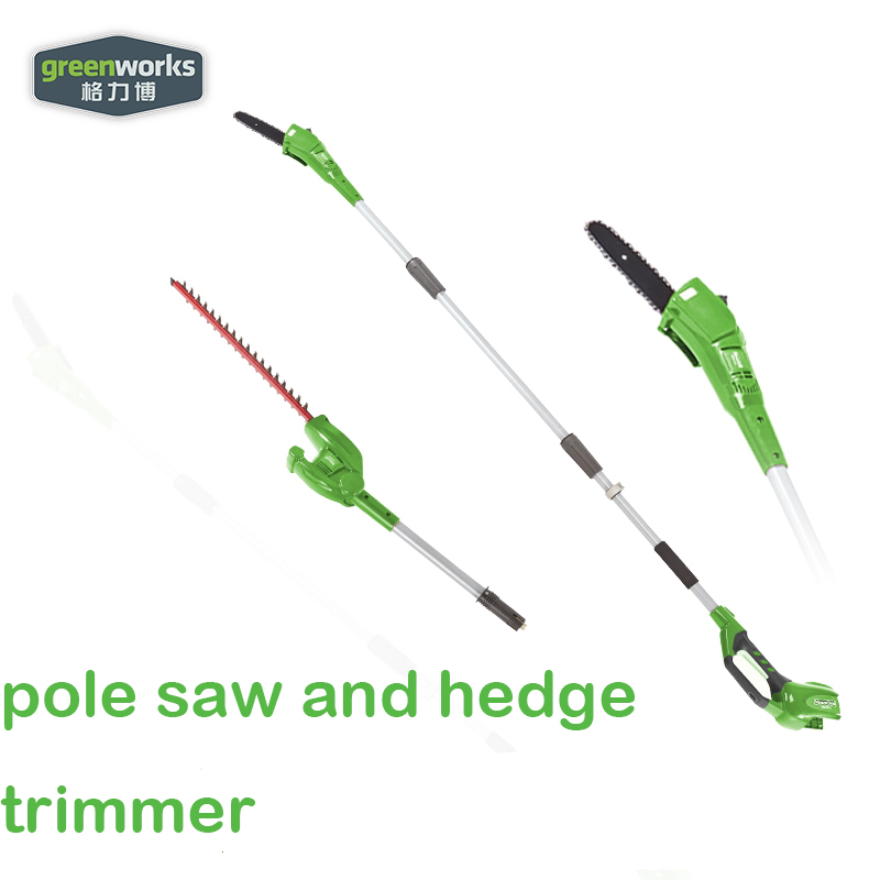 New Arriaval GreenWorks 20302 G-MAX 40V 8-Inch Cordless Pole Saw And Hedge Trimmer Not Comb Battery And Charger Include