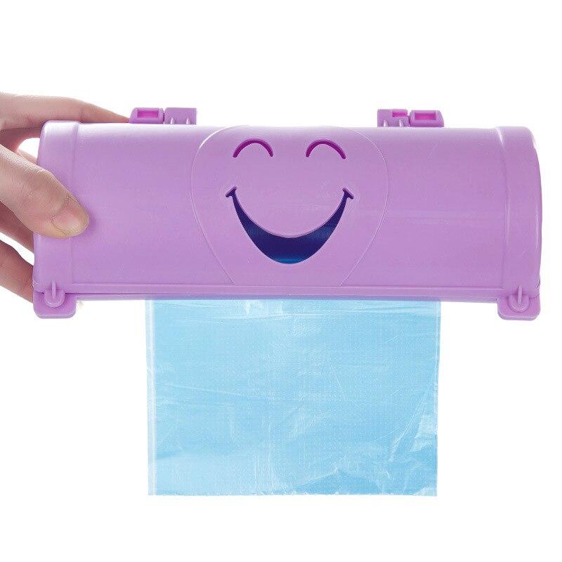 FHEAL Karikatür Gülümseme Yüz Çöp Torbaları Saklama Kutusu - Evdeki Organizasyon ve Depolama - Fotoğraf 3
