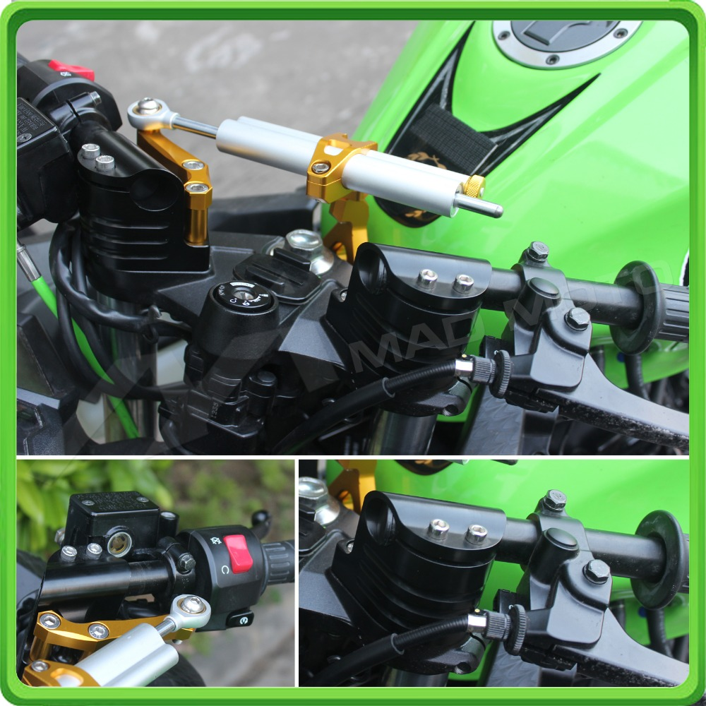 Us 8488 Cnc Clip On Ons With Handlebars Handle Bar For Kawasaki Ex250 Ninja 250r 2008 2009 2010 2011 2012 Black Color Style A In Handlebar From