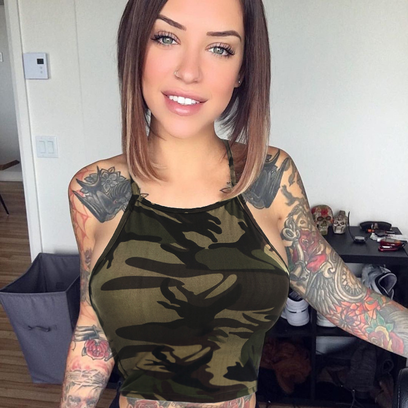 Sexy Woman In Camo