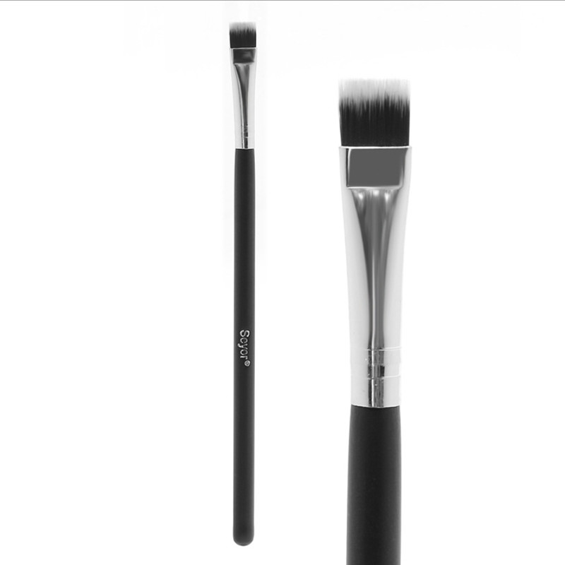 1pcs Professional Flat Nylon Highlighter Brush Face Blending  Concealer Makeup Brushes