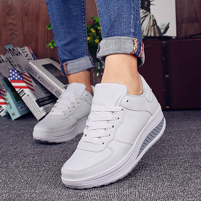 2018 Women casual shoes Slimming platform shoes women fashion women flats Fitness Lady Shoes 4
