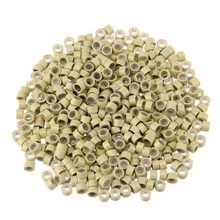 1000pcs 5mm Silicone Lined Micro Beads Rings Tube For Human Hair Extension Link Tip Tools No Damage to Hair Hair Rollers Styling(China)