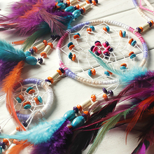 Colorful feather wind chimes pendant dream catcher wall hanging decoration