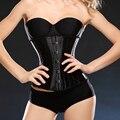 Mulher maravilha trainer cintura espartilhos e corpetes underbust corset cincher corpetes para as mulheres cetim 24 aço desossado curto corselet