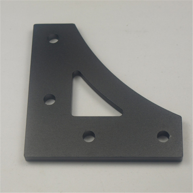 Anodized aluminum alloy frame connector v20 profile corner plate anodized aluminum alloy frame connector v20 profile corner plate black color 5mm thick for solutioingenieria Image collections