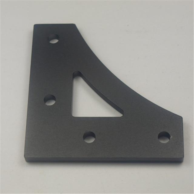 Anodized aluminum alloy frame connector v20 profile corner plate anodized aluminum alloy frame connector v20 profile corner plate black color 5mm thick for solutioingenieria Images