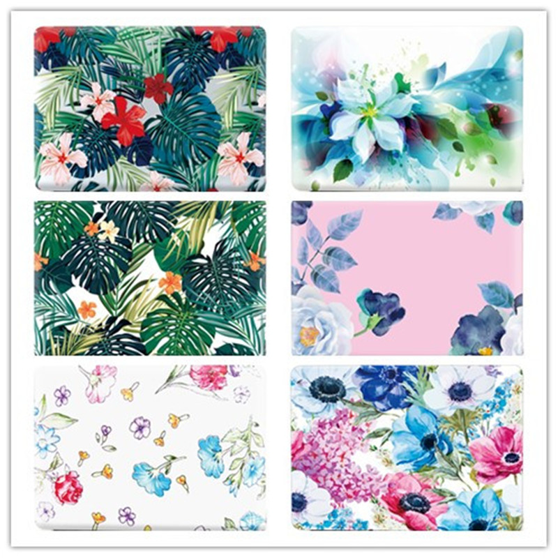 Laptop Case for Macbook Air 13,Crystal Transparent 3D Print Leaves Floral for Macbook Pro 13 15 Case for Macbook 11 12 13 Coque