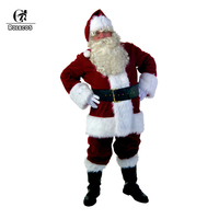 ROLECOS Adults Christmas Costume Full Set Of Christmas Costumes Santa Claus Blue Red Christmas Clothes Santa Claus Costume Suit