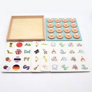Image 5 - Jeu de mémoire Montessori, puzzle 3D en bois, jeu interactif, éducatif précoce, jeu interactif, décontracté, pour enfant