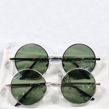Men Polarized Sunglasses Round Metal Steampunk Specially Brand Designed White Copper Trendy Vintage Sun glasses Gafas Y8132