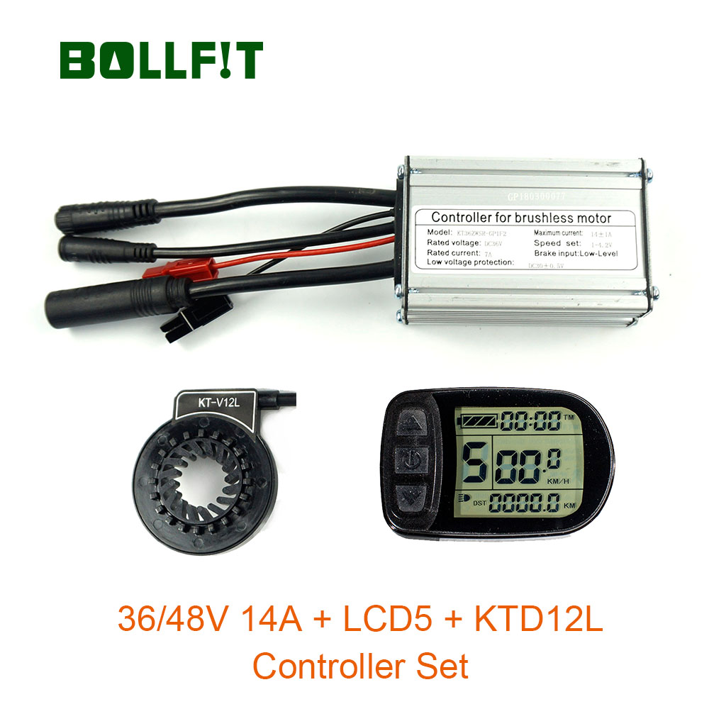 36V48V 250W whole waterproof Controller 14A with light fuction LCD5 Color display PAS Set E bike